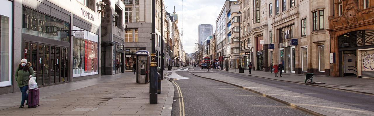 deserted shopping street oxford street london 1